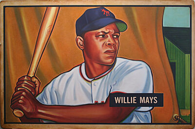 George Mead, '1951 Bowman Willie Mays', 2017