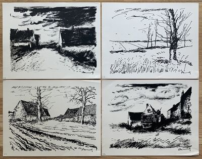 Maurice de Vlaminck, 'Four (4) Lithographs (The Valley of the Avre; House in Beaune; Les Challonges; La Potiniere a Rueil)', 1958