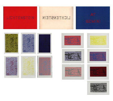 """Roy Lichtenstein, '""""Cathedrals and Haystacks"""", GEMINI Promotional Print Set, 13-Reproductions', 1969"""