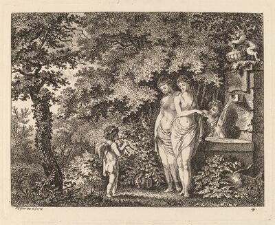 Salomon Gessner, 'Eros with Three Girls at a Fountain', 1770
