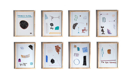 Clive Murphy, 'Dry Erase Drawings (grid form)', ca. 2021