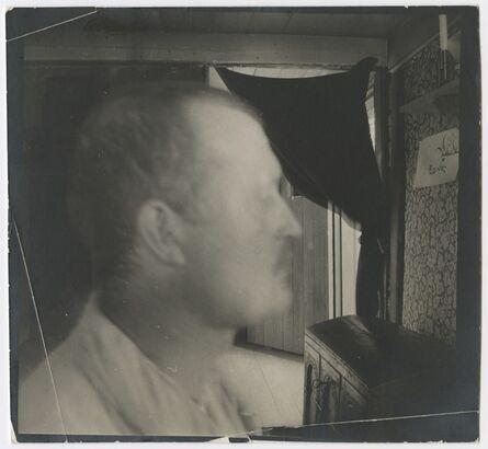 Edvard Munch, 'Edvard Munch I profil, innendørs', 1904