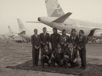 Simon Norfolk, 'The Crew And Ground Staff Of The New Independent Operator, 'Safi Airways'', 2010
