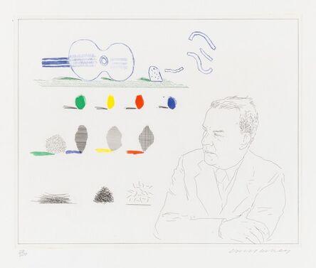 David Hockney, 'The Poet (Wallace Stevens)', 1976-1977