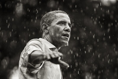 Brooks Kraft, 'Obama speaks in the rain during a campaign rally in Glen Allen, Virginia', 2012