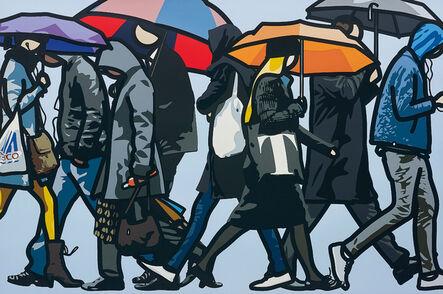 Julian Opie, 'Walking in the Rain, London', 2015