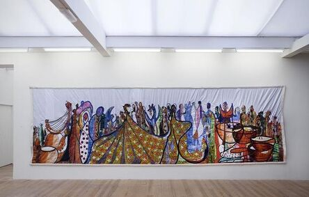 Abdoulaye Konaté, 'Fete Africaine (The Men and the Marionettes)', 2012