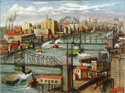 Edmund Yaghjian, 'Tugboats on the East River', 1937