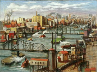 Edmund Yaghjian, 'Tugboats on the East River', 1937