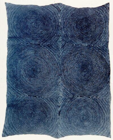 Unknown Artist, 'Tye-dyed cloth (adire oniko) with full moon (osu bamba)'