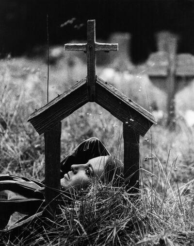 Sam Haskins, 'November Girl Grave Scene', 1966