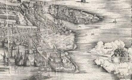 Jacopo de' Barbari, 'View of Venice [lower right block]', 1500