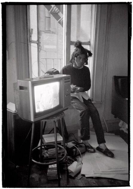 Roland Hagenberg, 'Basquiat with TV Set', 1983