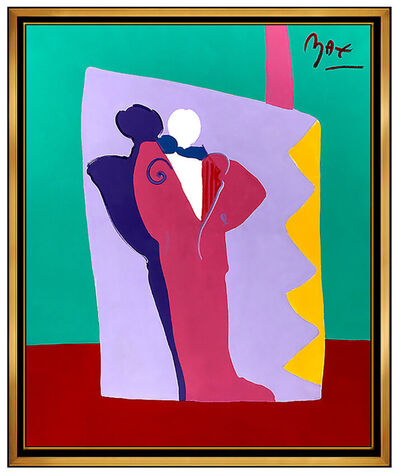 Peter Max, 'PETER MAX Original PAINTING on CANVAS Signed DECO MAN Acrylic HUGE 60x48 Pop Art', 1990