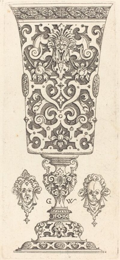 Georg Wechter I, 'Goblet with base decorated with two large scallops', published 1579