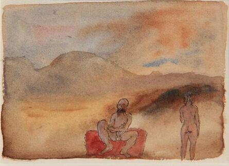Tasaduq Sohail, 'Untitled (Man and woman in landscape)', Undated
