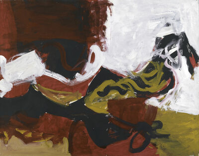 Charlotte Park, 'Untitled (Black, White, Red, and Brown III)', ca. 1955