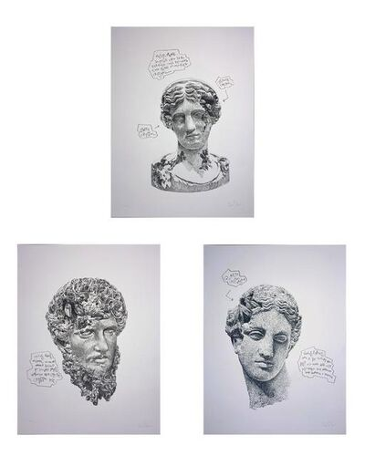 Daniel Arsham, 'Eroded Classical Prints (Portfolio of 3)', 2020