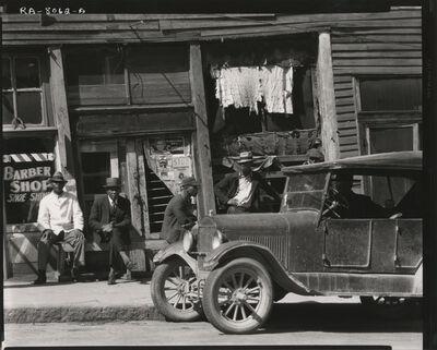 """Walker Evans, '""""Sidewalk In Mississippi, 1936"""", Vicksburg', 1936"""