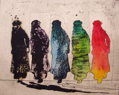 Nahid Hagigat, 'Kurdish Women in Red', 2015