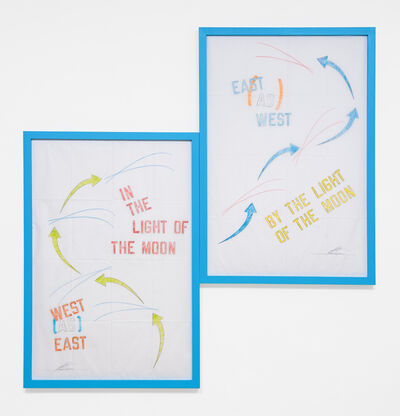Lawrence Weiner, 'West as East East as West', 2012