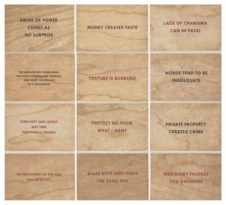 Jenny Holzer, 'Truisms (set of twelve)', 2018