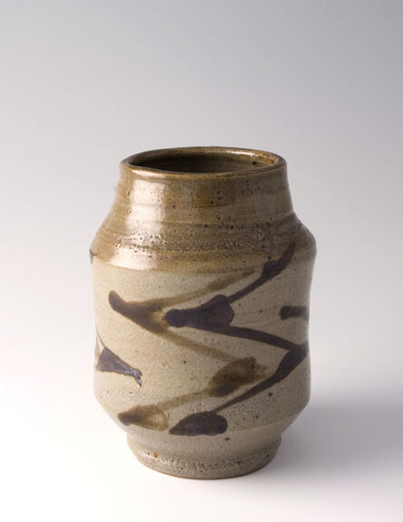 Shōji Hamada, 'Vase, tetsue brushwork', ca. 1950