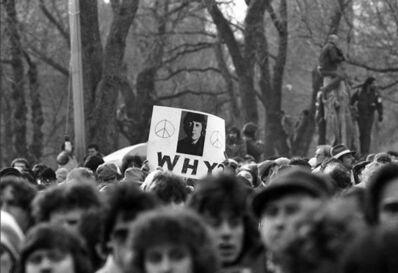 Harry Benson, 'John Lennon Memorial, Central Park, NYC', 1980