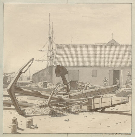 Christoffer Wilhelm Eckersberg, 'Anchors at Larsen's Yard', 1835