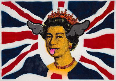 D*Face, 'Dog Save the Queen - Orange', 2005