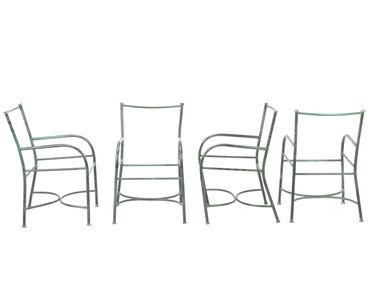 Robert Lewis Reid, 'Four armchair frames'