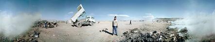 Mikhael Subotzky, 'Samuel (with truck), Vaalkoppies, Beaufort West Rubbish Dump', 2006