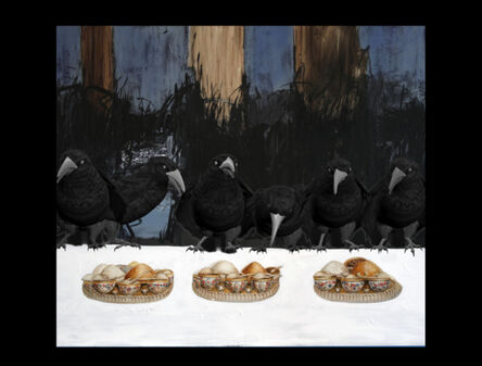 Farideh Lashai, 'Keep Your Interior Empty of Food that You Mayest Behold There in the Light of Interior, Crows, video still)', 2010-2012