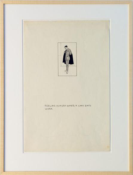 Matt Mullican, 'Untitled (Business Man Drawing Figures)', 1974