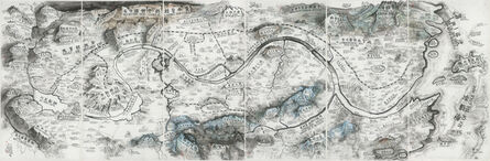 """Qiu Zhijie, 'Map of """"Art and China after 1989: Theater of the World""""', 2017"""