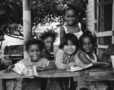 Earlie Hudnall, Jr., 'Smiling Girls, 3rd Ward, Houston, TX', 1985