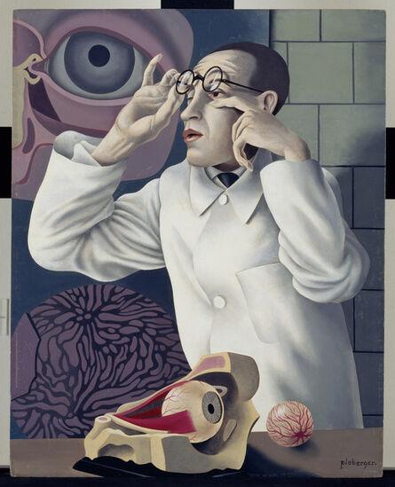 Herbert Ploberger, 'Self-Portrait with Opthalmological Models (Selbstbildnis mit Opthamologischen Lehrmodellen)', 1928-1930