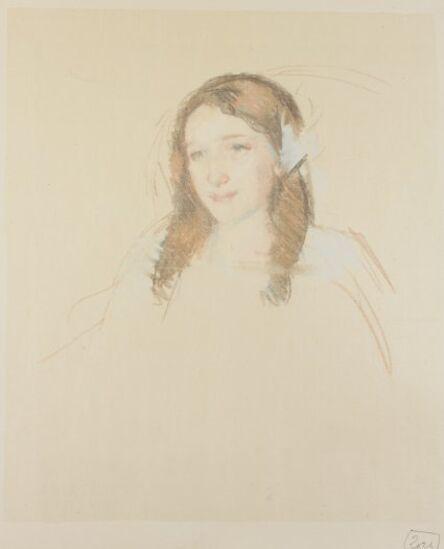 Mary Cassatt, 'Head of Adele (No. 3)', ca. 1908
