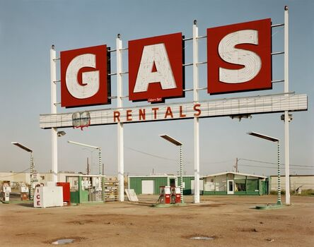 Jim Dow, 'Sign for Gas Station, Henry Hines Blvd., US 77, Dallas, Texas', 1979