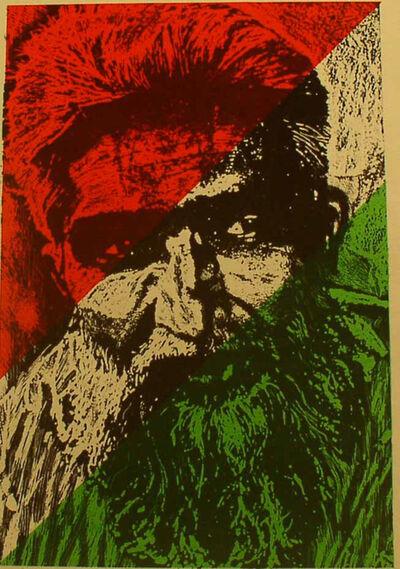Jyoti Bhatt, 'Tri-Colored Face', 1976
