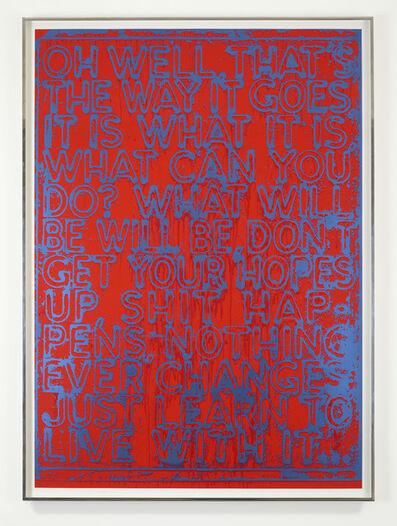 Mel Bochner, 'Oh WEll (FRAMED)', 2020