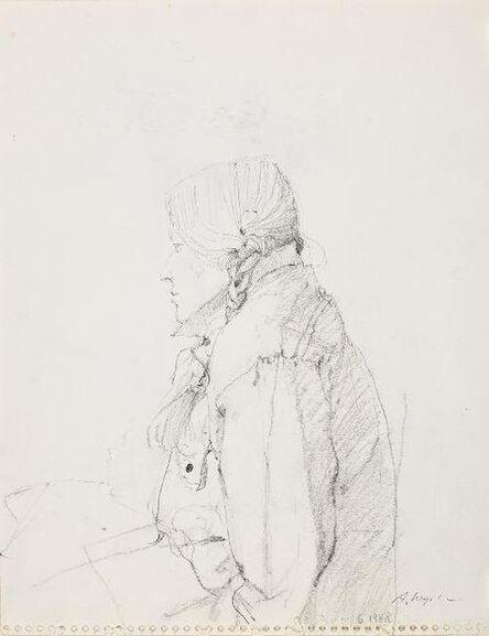 Andrew Wyeth, 'Housebound Study (1)', 1988