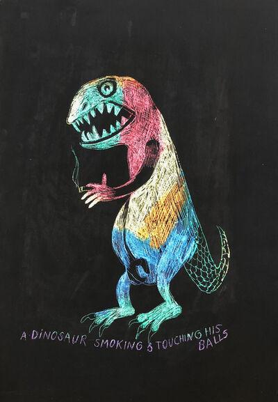 Juan Pérez Agirregoikoa, 'untitled (dinosaur touching his balls)', 2018