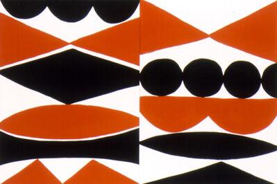 Kim MacConnel, 'Double Enamel Panel #2. (black, white, orange)', 2004
