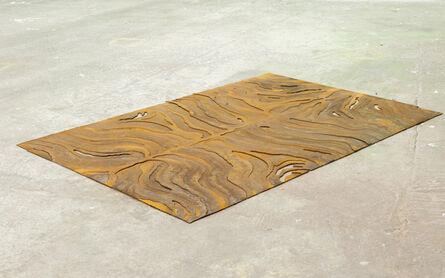 Richard Gasper, 'Metal Rug (Rorschach Zebra) ', 2014