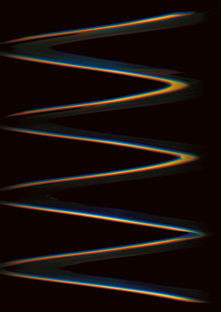Carsten Nicolai, 'Chroma wellen form (Scan26)', 2015