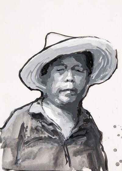 James Hart Dyke, 'Street cleaner, black and white ', 2014