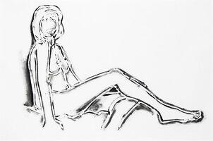 Tom Wesselmann, 'MONICA SITTING, ONE LEG ON THE OTHER', 1994
