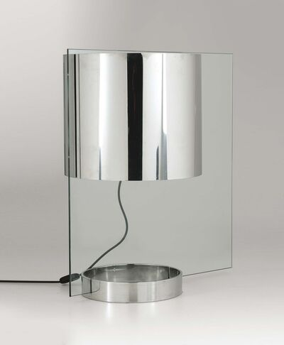 Lumenform, 'A table lamp with a steel and glass structure', 1970 ca.