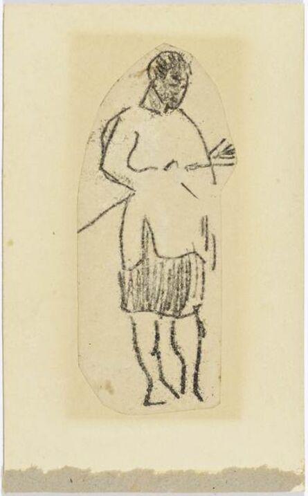 Paul Gauguin, 'Standing man from Tahiti', 1891-1893